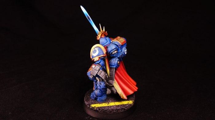 Гравис-капитан Маркус Warhammer 40k, Wh miniatures, Wh painting, Миниатюра, Покраска миниатюр, Ultramarines, Primaris Space Marines, Длиннопост