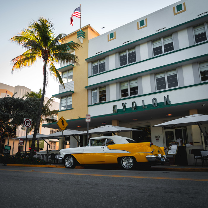 США, Майами, Ocean Drive Фотография, США, Путешествия, Майами, GTA, GTA Vice City, Авто, Ретроавтомобиль