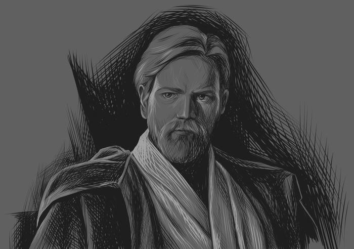 Оби Ван Star Wars, Оби Ван Кеноби, Рисунок, Фильмы