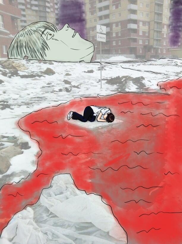 Конец Евангелиона Evangelion, Anime Art, Длиннопост