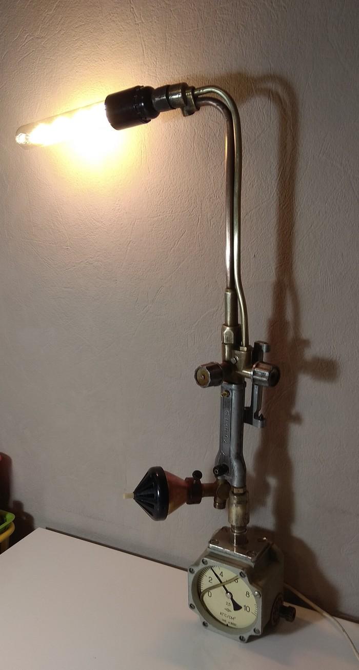 Настольный светильник Светильник, Ночник, Лампа, Горелка, Своими руками, Длиннопост
