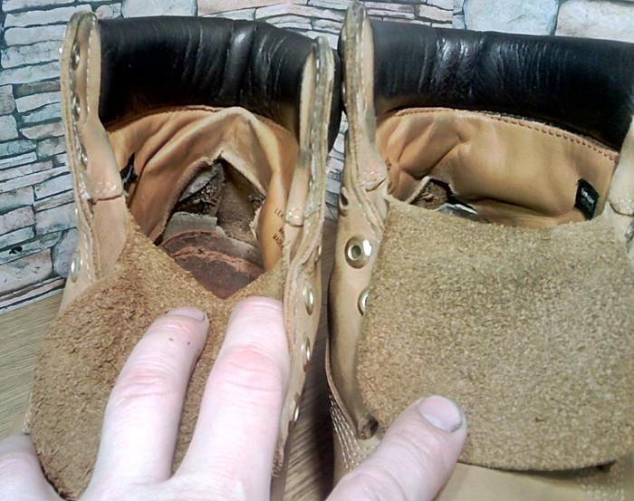 Верой и правдой. Тимберленды после пяти лет. Ремонт обуви, Задник, Очистка обуви, Моя интересная работа, Длиннопост, Timberland, Мат