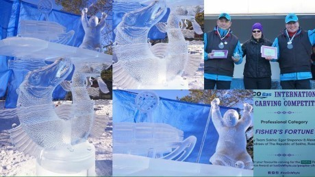 Триумф якутян на фестивале ледовых скульптур в Канаде. Копипаста, Длиннопост, Новости, Канада, Якутия, Ледяная скульптура