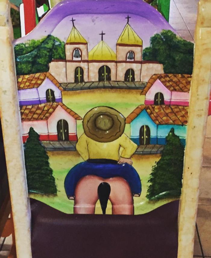 Хуан Санчес смотрит на дом божий.