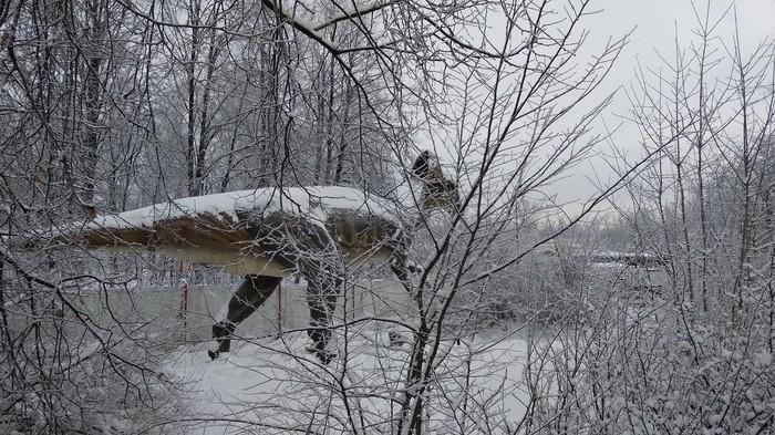 Морозным кайнозойским утром Фотография, Санкт-Петербург, Динозавры, Холодно, Геологам привет!