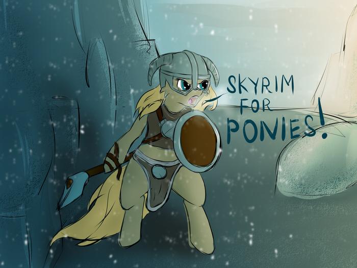 Хаммерфел для зебр! Морровинд для чейнджлингов! My Little Pony, Skyrim, The Elder Scrolls, Понификация