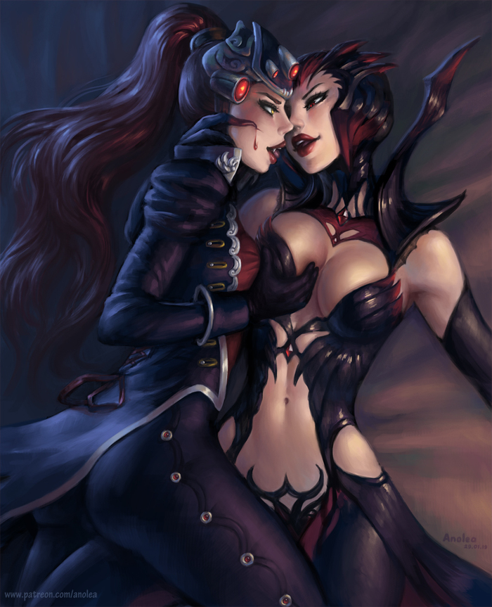 Widowmaker and Elise