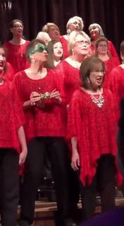 Просто настроение хорошее Рождество, Хор, Выступление, Хорошее настроение, Гифка, Видео