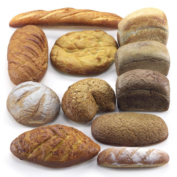 Запёк хлебушка Хлеб, Батон, Сканирование, Фотограмметрия, Компьютерная графика