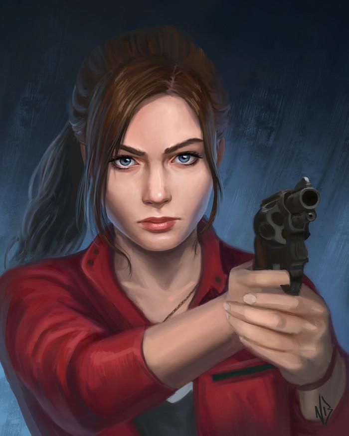 Leon Kennedy &Claire Redfield Арт, Рисунок, Resident Evil, Capcom, Leon Kennedy, Claire Redfield, Natalie Bernard, Игры, Длиннопост