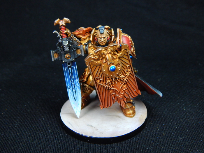 Custodian guard Warhammer 40k, Wh miniatures, Wh painting, Миниатюра, Покраска миниатюр, Horus Heresy, Adeptus Custodes, Длиннопост