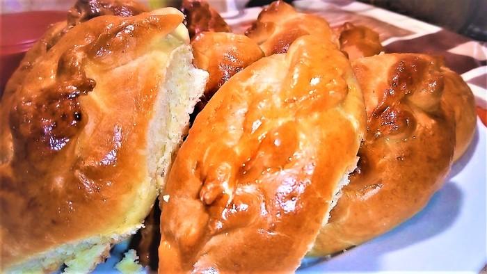 Быстрые пирожки за 30 минут Дрожжевое тесто, Видео рецепт, Рецепт, Еда, Духовка, Видео, Длиннопост, Пирожок, Выпечка