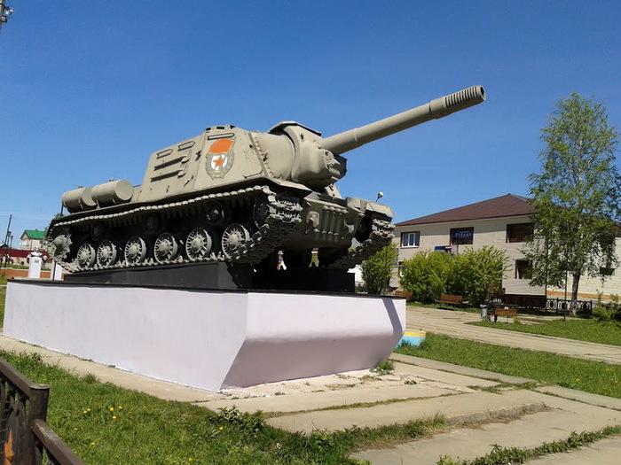 ИСУ-152 в Октябрьском Октябрьский, Великая Отечественная война, Длиннопост, Военная техника, Ису-152