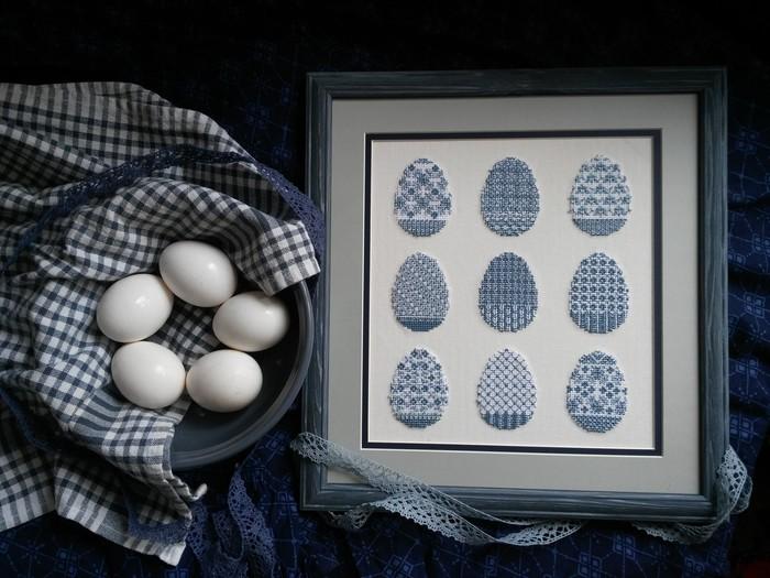 Пасхальные яйца Вышивка, Вышивка крестом, Фотография, Длиннопост, Пасхальные яйца