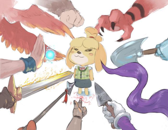 Да начнется битва. Cutesexyrobutts, Anime Art, Арт, Super Smash Bros, Игры