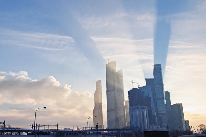 Поддайте света Sogemoge, Городские пейзажи, Москва, Москва-Сити, Рассвет