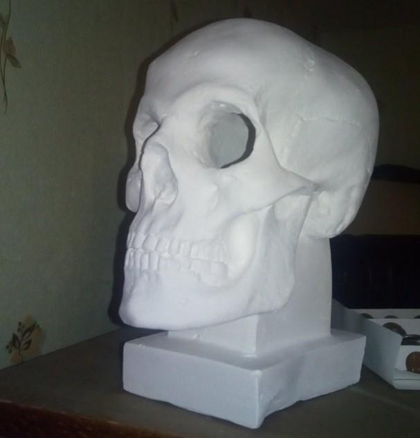 Прокачка гипсового черепа Череп, Рога, Своими руками, Гипс, Крипота, Декор, Длиннопост