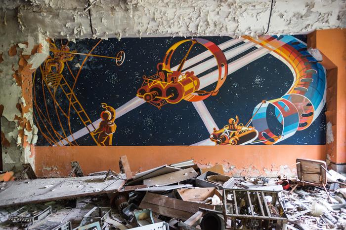 Взгяд в космическое будущее Чернобыль, Припять, Чзо, Чернобыль: Зона отчуждения, Фотография, Космос, Панно
