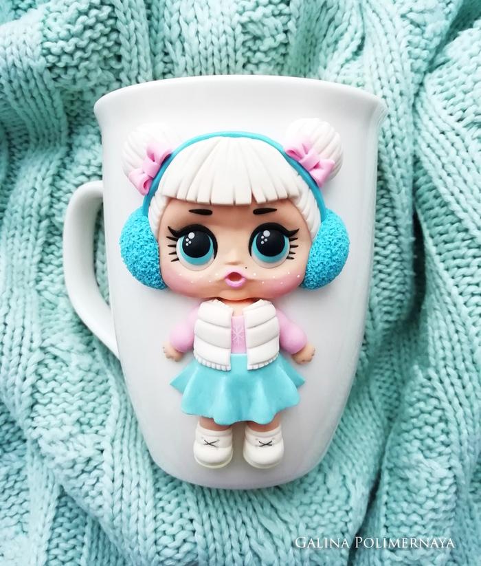 Кукла LOL и ее питомец =D Lol, Кукла, Полимерная глина, Единорог, Ручная работа, Рукоделие без процесса, Handmade, Кружка, Длиннопост