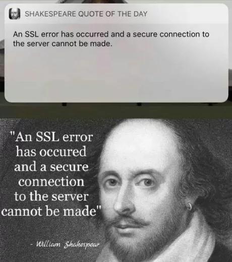 Цитата дня от Шекспира Уильям Шекспир, Цитаты, Ошибка