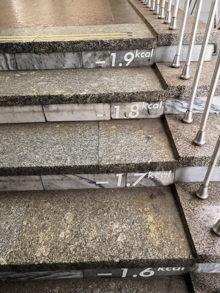 Интересная лестница Московское метро, Метро, Калории