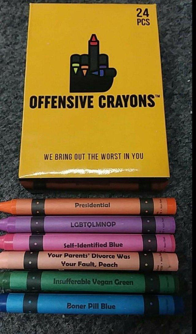 Оскорбительные мелки Мелки, Crayons, Оскорбления чувств, Reddit