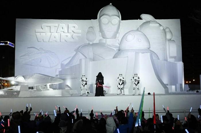 Снежный фестиваль в Саппоро Star Wars, Японцы, Снежный фестиваль, Фигруы из снега