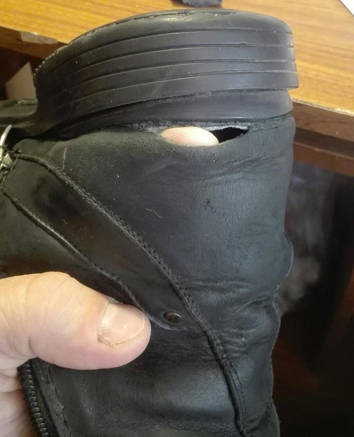 Ать-два, левой.Тотальный ремонт зимних берцев. Ремонт обуви, Замена подошвы, По крупному, Было-Стало, Задник, Супинатор, Зимние ботинки, Длиннопост