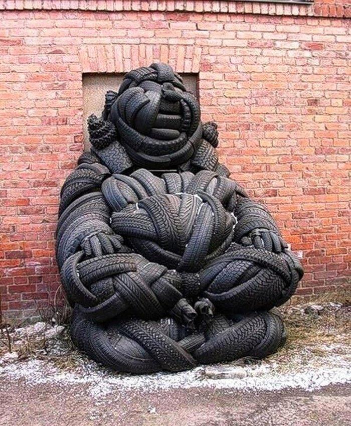 Покрышечный будда Будда, Современное искусство, Фотография, Юмор, Покрышки