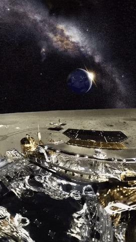 Вид с луны прекрасен