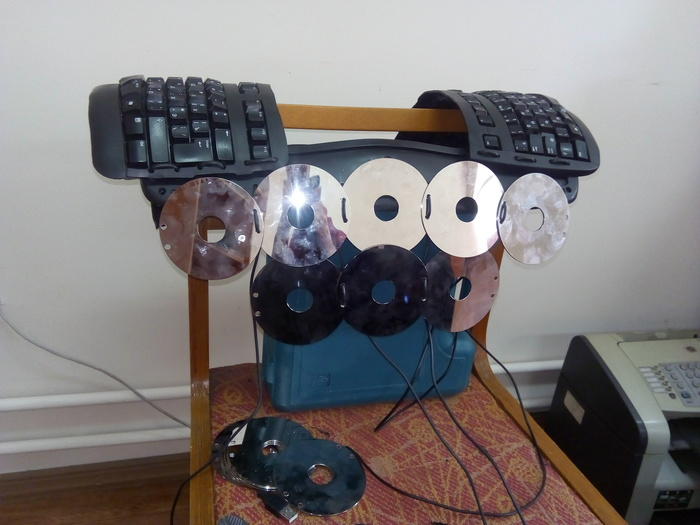 Кольчуга IT-шника. Кольчуга, Диски, Клавиатура, Рукоделие с процессом, Винчестеры, Длиннопост