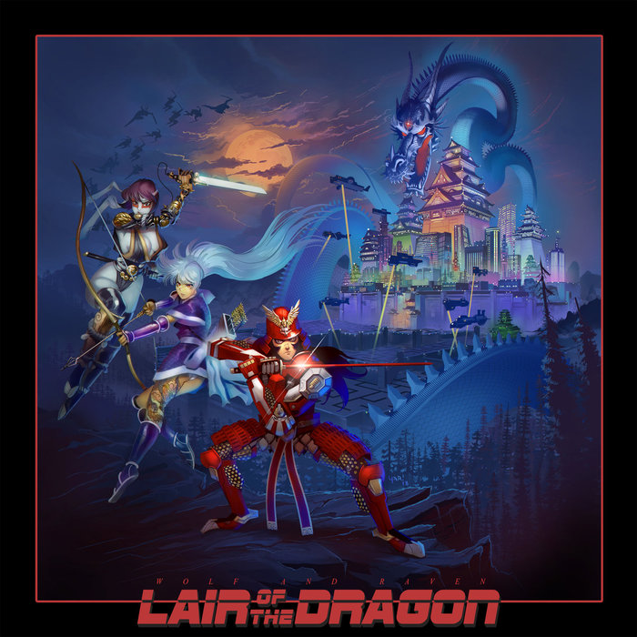 Wolf and Raven - Lair of the Dragon (2018) Retrowave, Synthwave, Рок, Wolf and raven, Synth Rock, Гитара, Видео