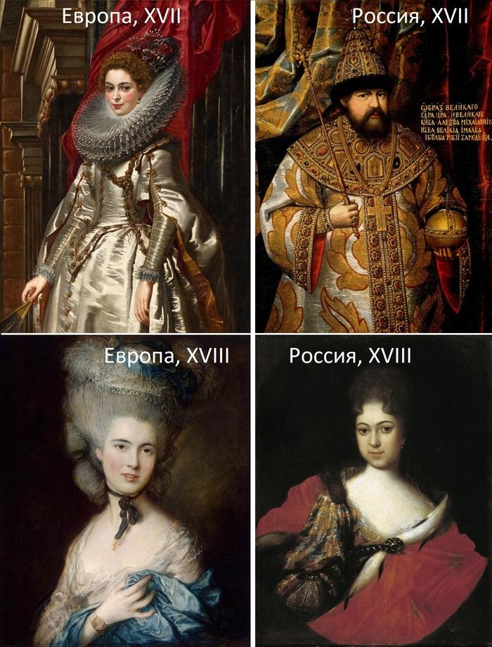 Памятки по искусству Памятка, Русское искусство, 17 век, 18 век, Длиннопост