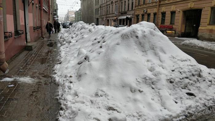 Сугробы в СПб и заваленные правления. Снег, Уборка, Длиннопост