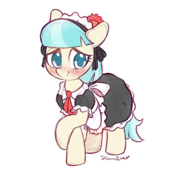 Чай, кофе или меня? My Little Pony, Coco Pommel, Горничная, Celebi-Yoshi
