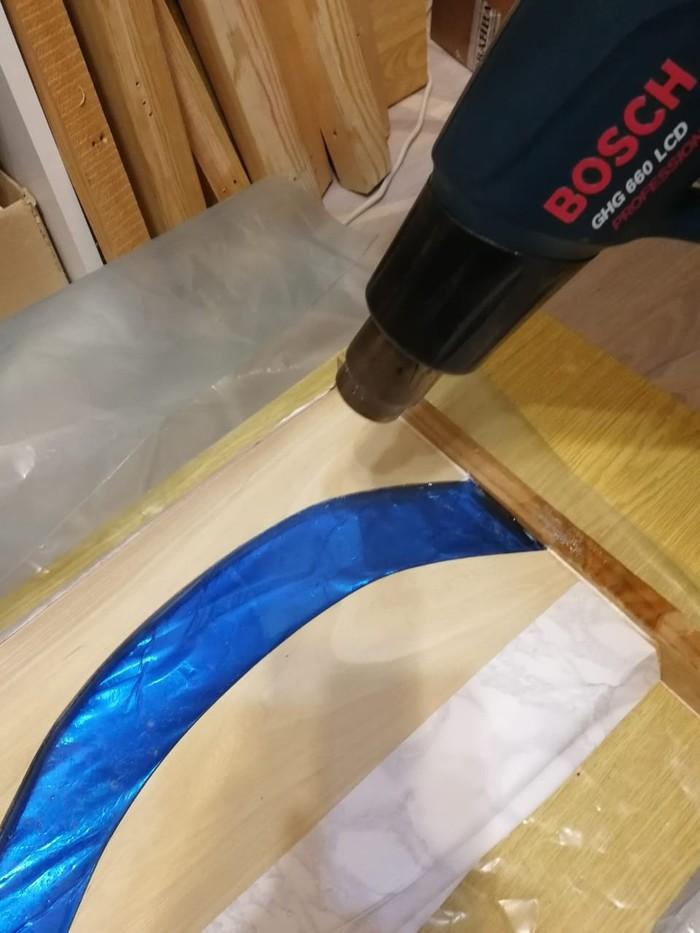 Как мы делали стол - ручей из слэбов и эпоксидной смолы Ðпоксидная смола, Рукоделие с процессом, Длиннопост, Стол, Своими руками
