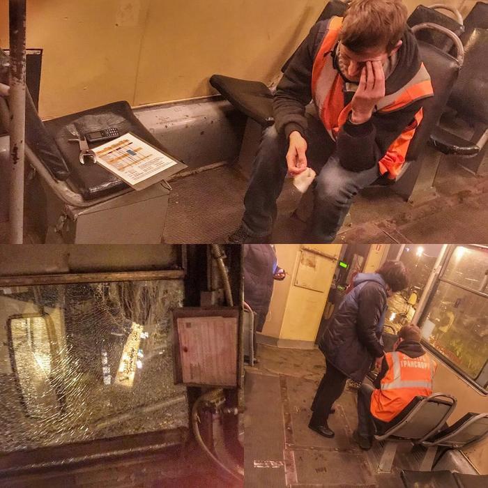 В Краснодаре кто-то бросил камень в боковое стекло водителя трамвая, осколки попали ему в глаза Краснодар, Трамвай, Водитель, Камень, Стекло, ЧП, Неадекваты, Негатив