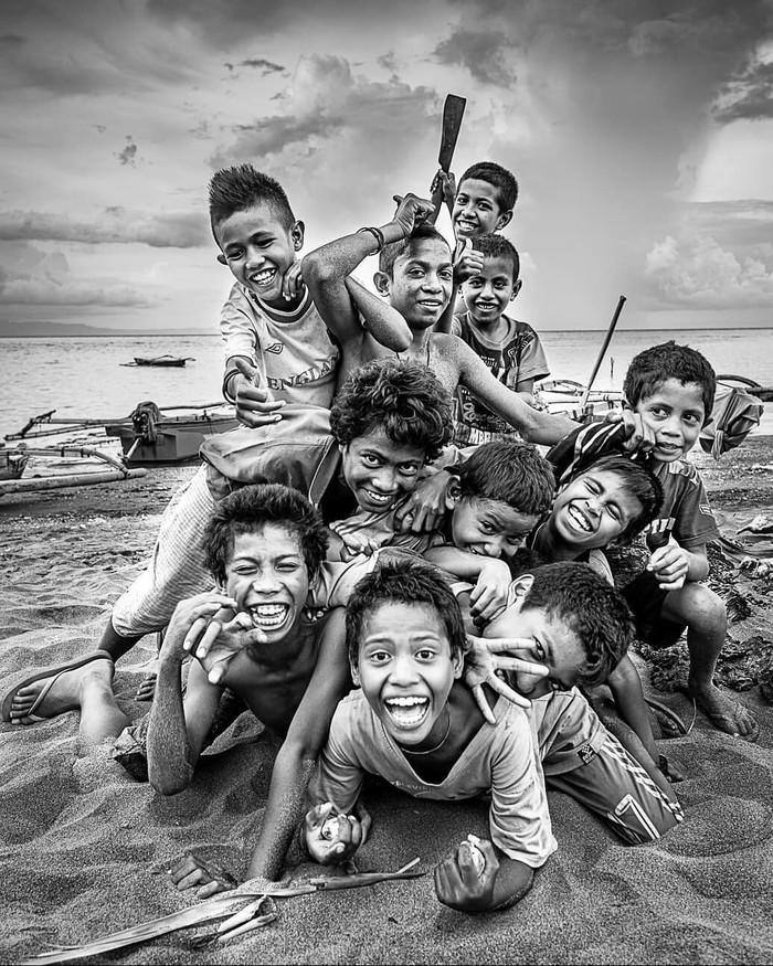 Восточный Тимор. Фотография, Дети, Улыбка, Хорошее настроение