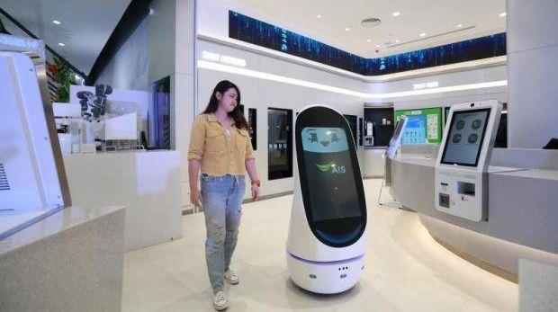 Покупателей обслужат роботы. Магазин нового поколения открыли в Таиланде Наука, Робототехника, Робот, Автоматизация, Таиланд