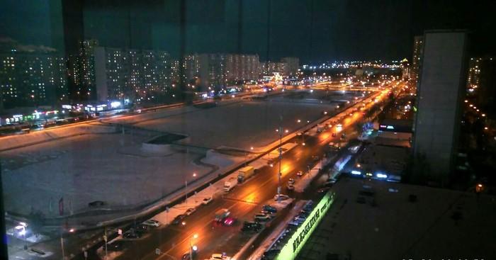 Ночные огни Ночной город, Москва, Огни, Фотография