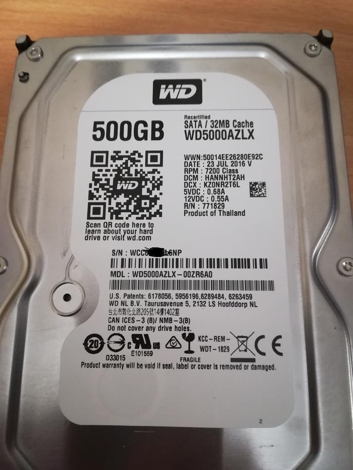 Про жесткие диски WD по сниженной цене Western Digital, Hdd, Восстановленный, Жесткий Диск