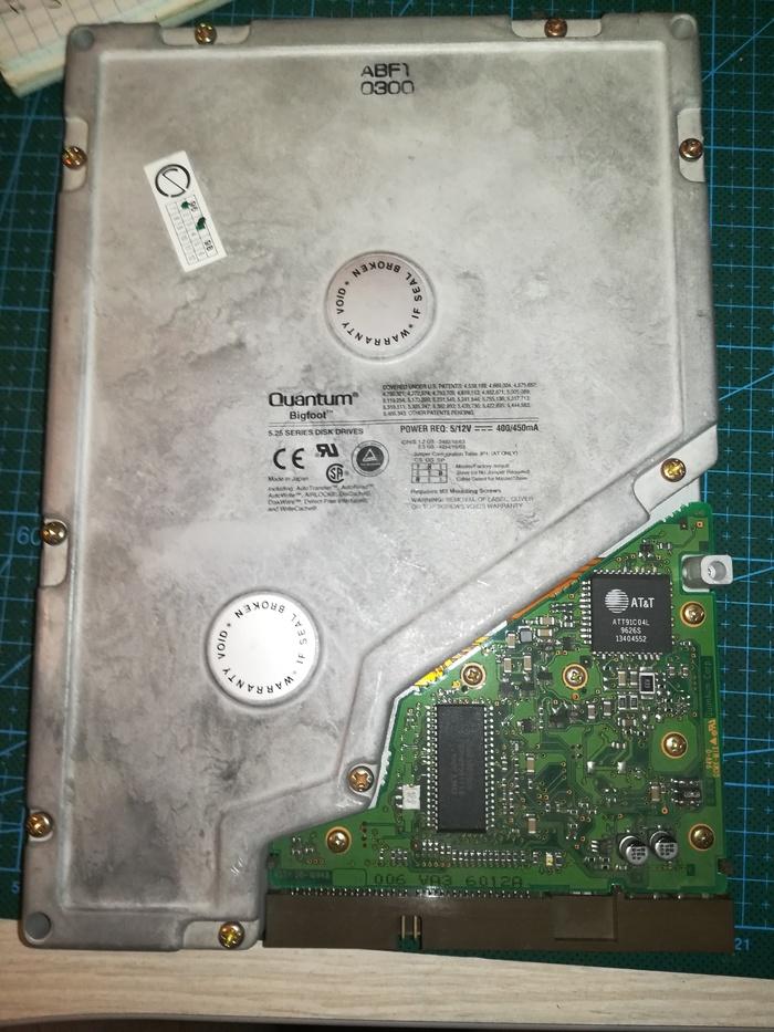 5.25'' HDD диск Quantum Big Foot Quantum, Hdd, Ретро, Компьютер, Длиннопост
