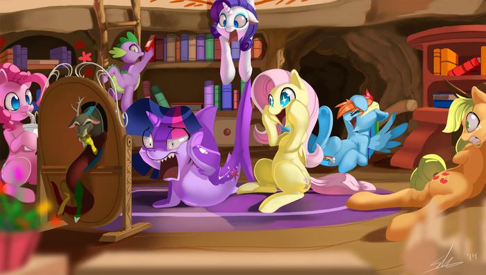 Twilight Sharkle My Little Pony, Mane 6, MLP Discord, Spike, Акула, Shnider