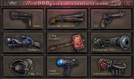Оружие из Fallout 3/4/NV стилизованное под первые части Fallout, Fallout 2, Fallout 1, Арт, Deviantart, Компьютерные игры