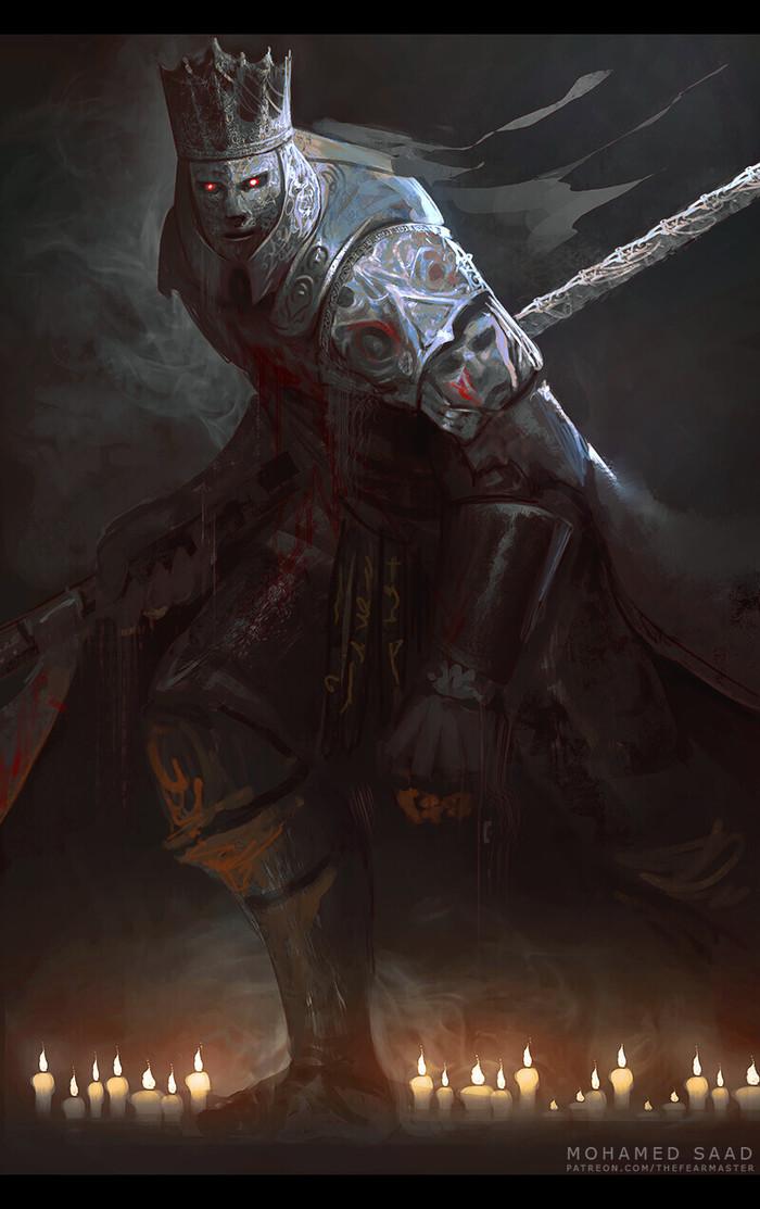 Bymohamed saad Mohamed saad, Champion Gundyr, Игры, Арт, Рисунок, Dark Souls, Dark Souls 3