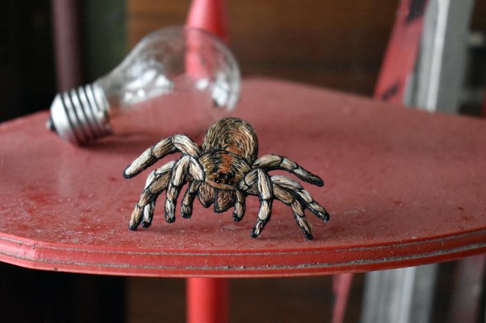 Паучки Рукоделие без процесса, Арахнофобия, Большие пауки, Брошь, Своими руками, Чердак, Мрачное, Длиннопост