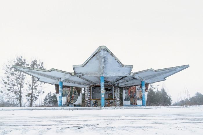 Советские автобусные остановки Автобусная остановка, СССР, Кристофер Хервиг, Длиннопост, Фотография