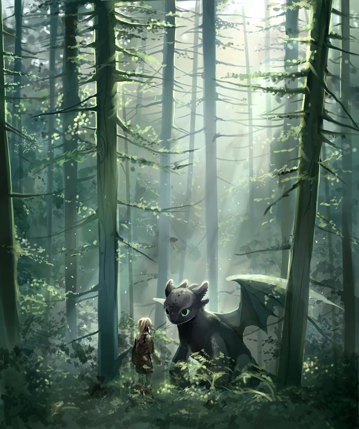 Story Арт, Как приручить дракона, Иккинг, Беззубик, Дракон, Aliya Chen, Как приручать дракона, How train Your Dragon