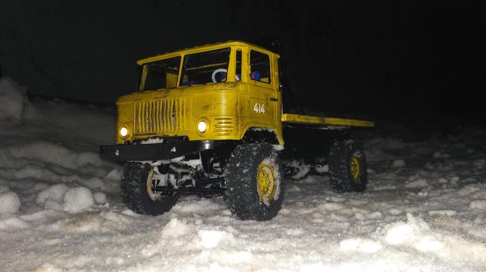 ГАЗ-66 (1:16) первые покатушки по снегу Газ-66, Моделизм, Радиоуправляемые модели, 1:16, Wpl, Длиннопост