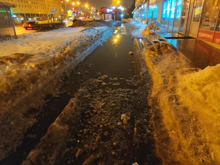 Канал имени меня Уборка снега, Лёд, Лопата, Санкт-Петербург, Длиннопост